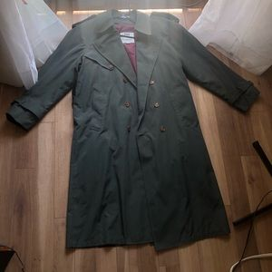 LONDON FOG   Long Trenchcoat with Removable Lining